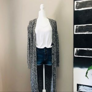 Forever 21 Tweed-Style Long Cardigan Duster Size L